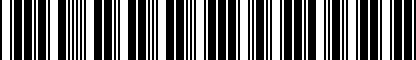 Barcode for 5G0071727