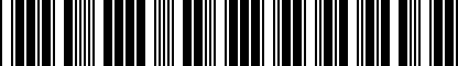 Barcode for 5G3071126