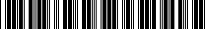 Barcode for 5M0071726